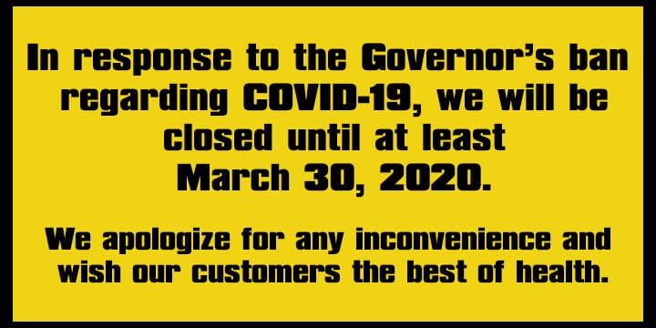 closed until march 30